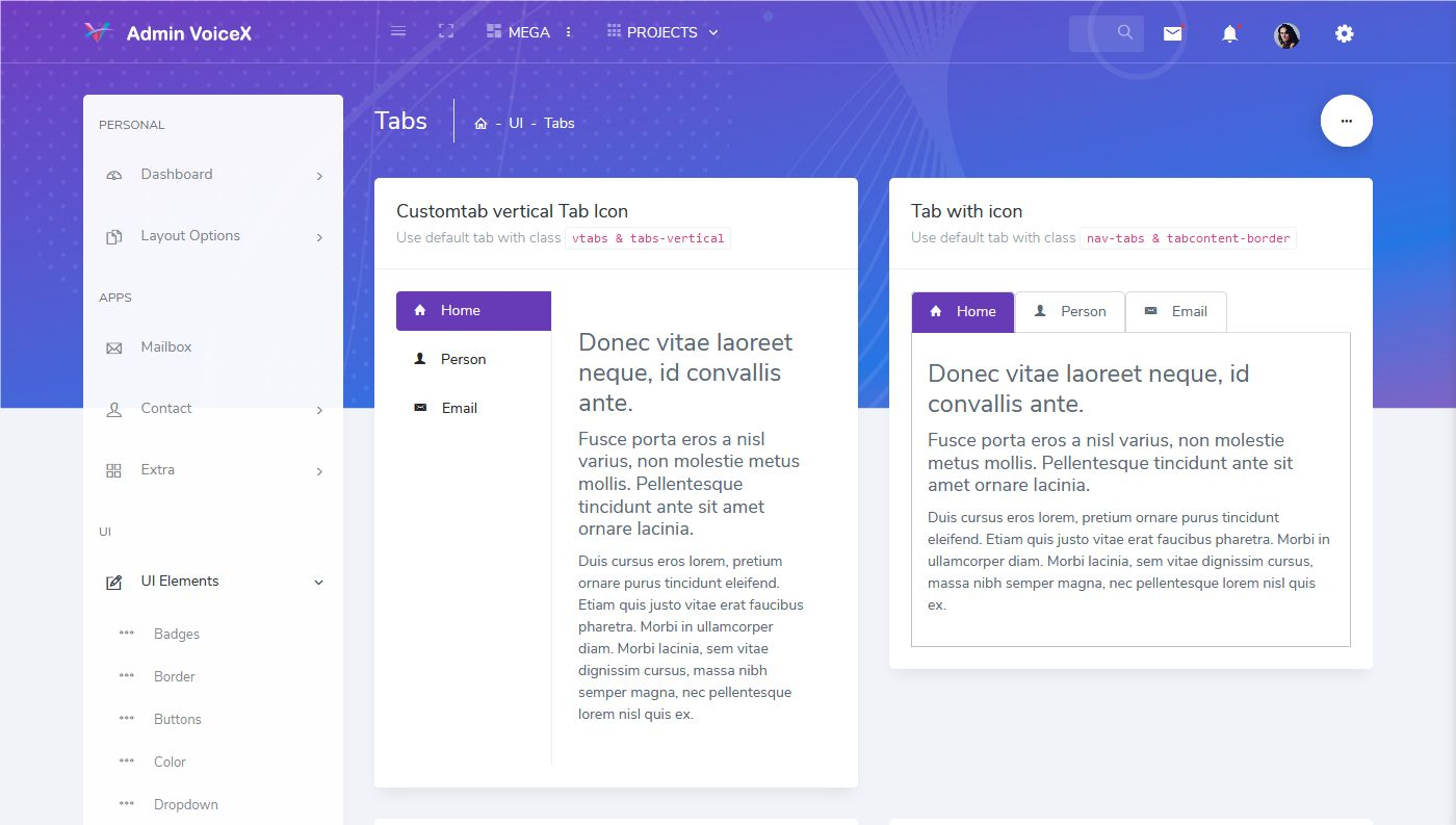 Bootstrap Admin HTML