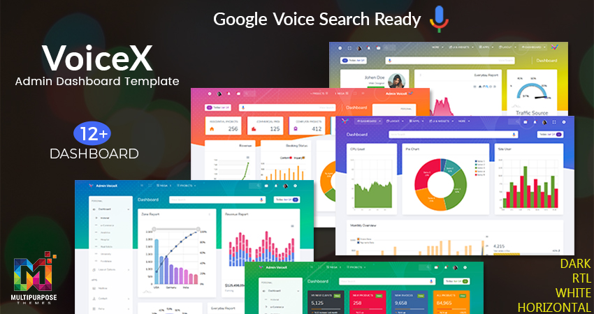 VoiceX University Admin Dashboard UI Kit