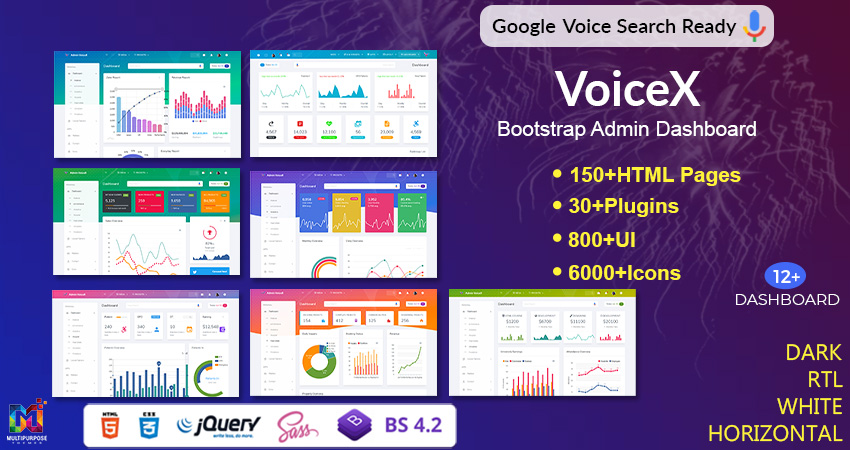 VoiceX Bootstrap Admin Template By Multipurpose