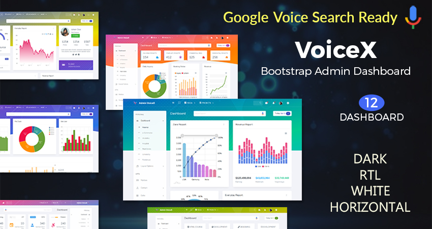 VoiceX Analytics Responsive Admin Dashboard