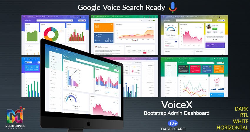 VoiceX Real Estate Bootstrap Admin Dashboard
