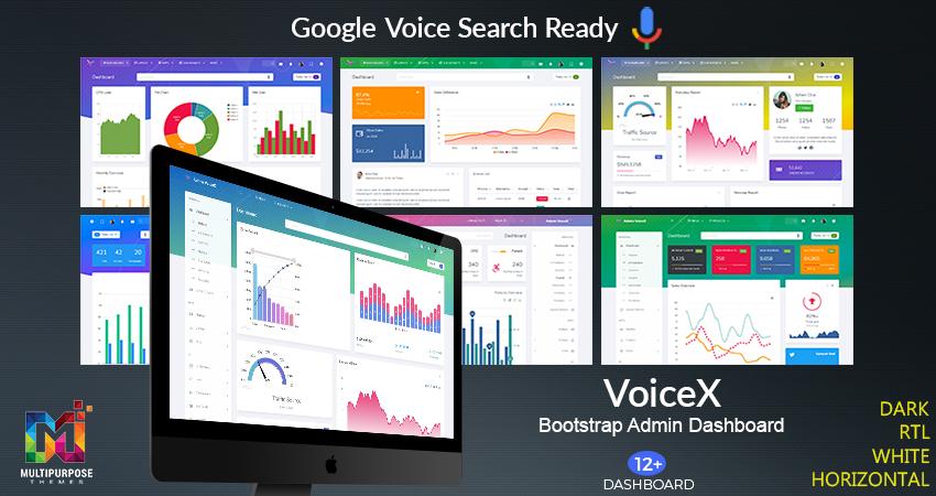 VoiceX Real Estate Bootstrap Admin Dashboard