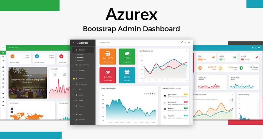 Azurex Responsive Bootstrap Admin Template