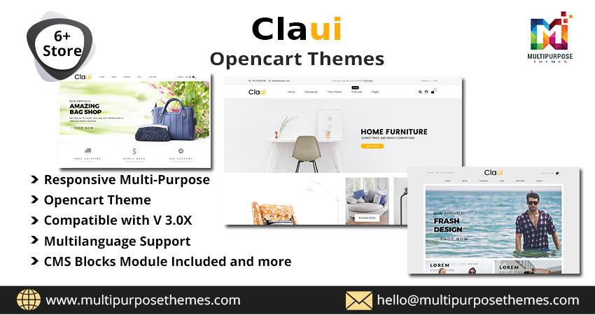 Claui Premium OpenCart Multipurpose Themes