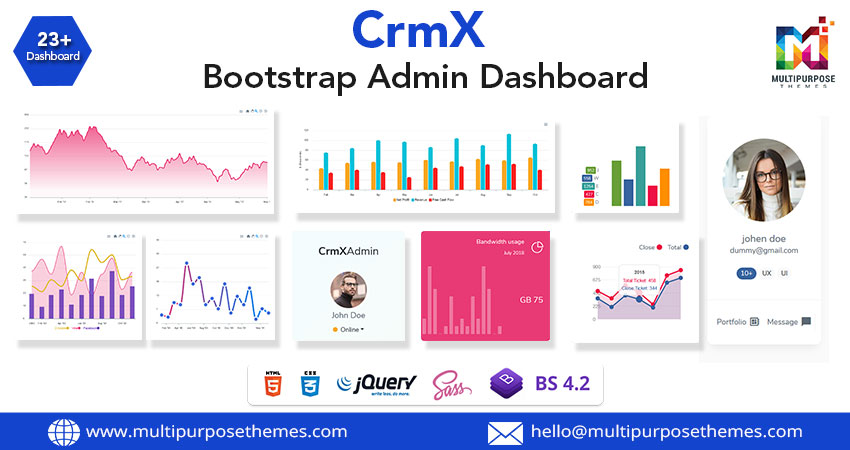 CrmX Hospital Responsive Admin Dashboard