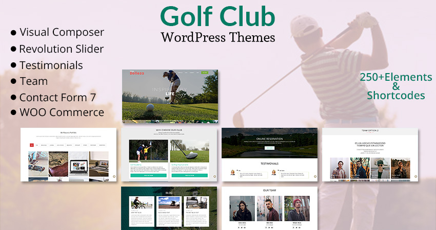Golf Club Premium Business WordPress Theme