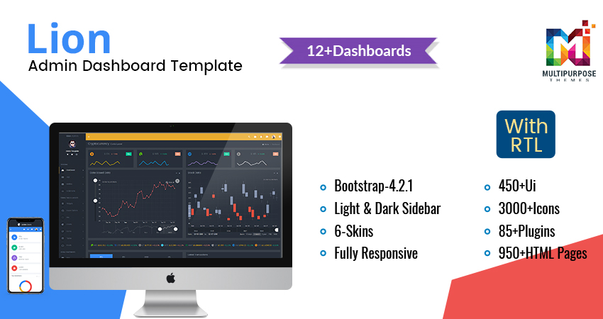 Lion Education – Responsive Admin Dashboard
