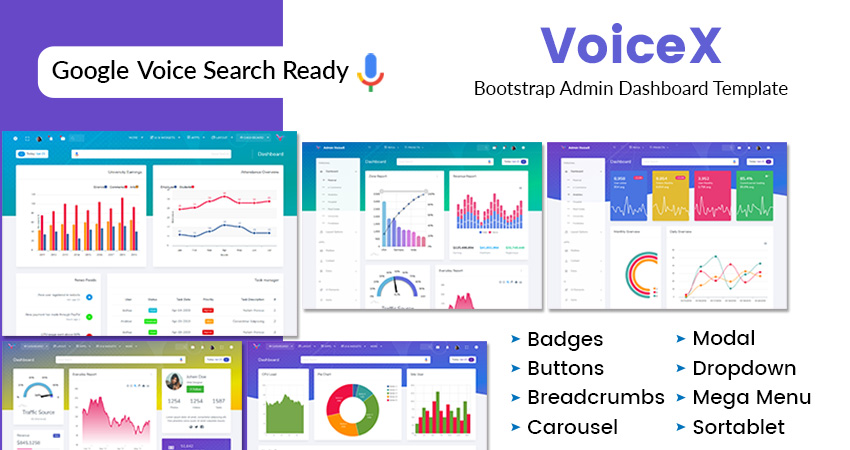 VoiceX Analytics Bootstrap Admin Template