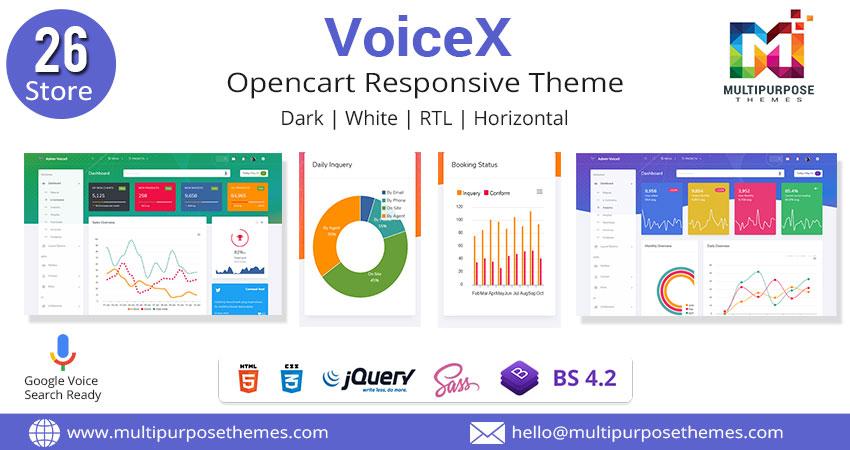 VoiceX Foodplaza Bootstrap Admin Dashboard