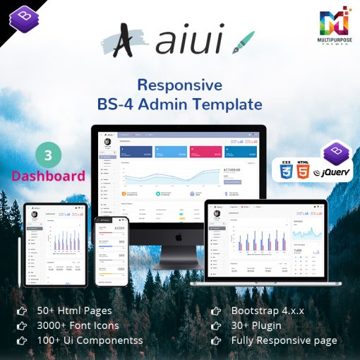 AIUI – Admin Dashboard Template & Web Apps