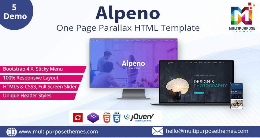 Alpeno Crypto Business HTML Template