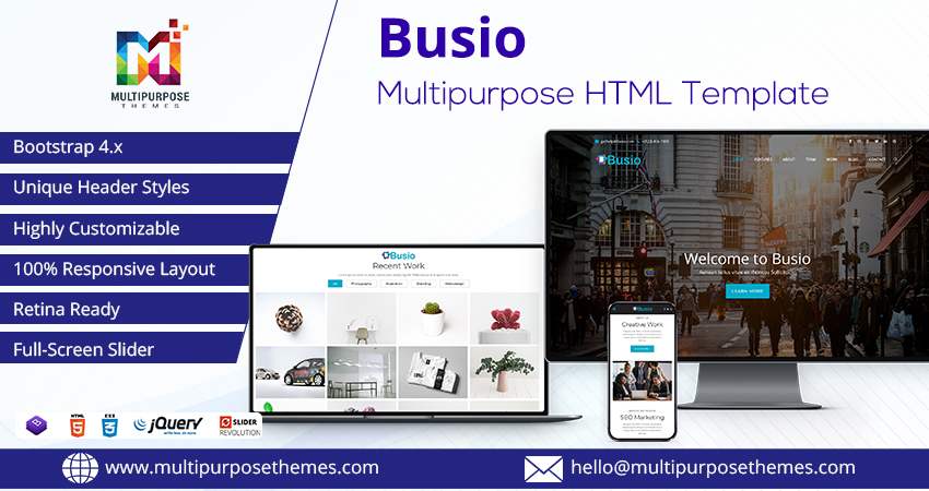Busio – Multipurpose Premium Html Template