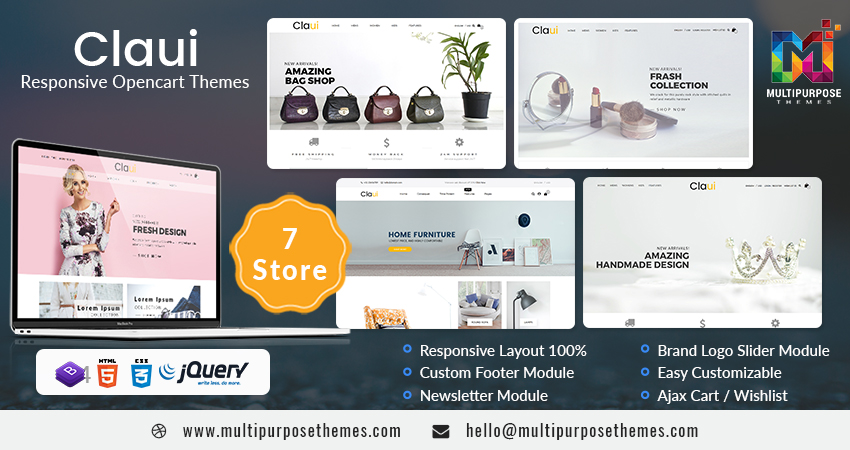 Claui Premium OpenCart Themes With Some Highlighted Features