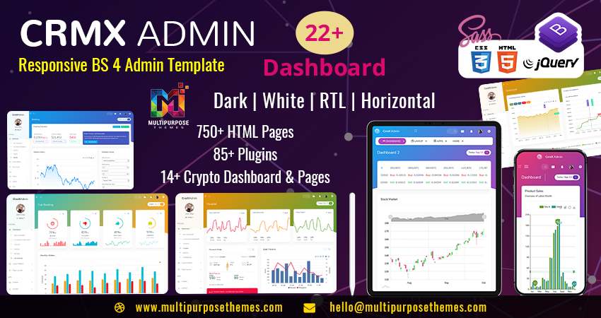 CrmX Analytics Bootstrap Admin Template