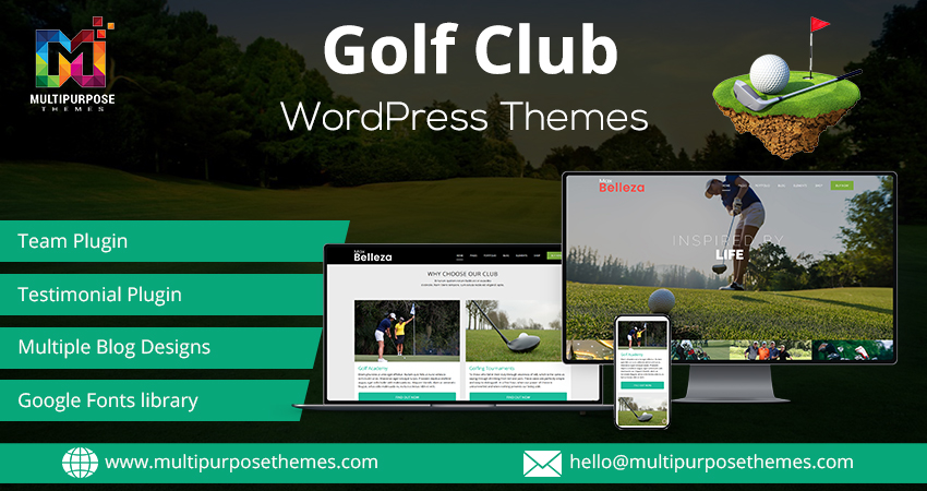 Golf Club Business Premium WordPress Themes