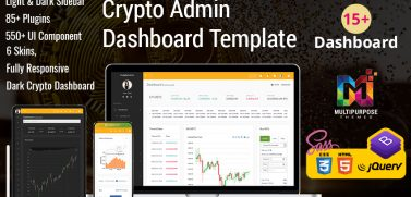Crypto – Cryptocurrency Dashboard Admin Template