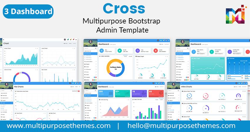 Dashboard Admin Template – Cross