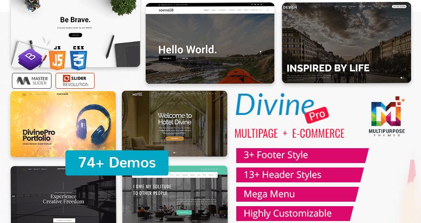 Divine Pro – Bootstrap Parallax HTML Template