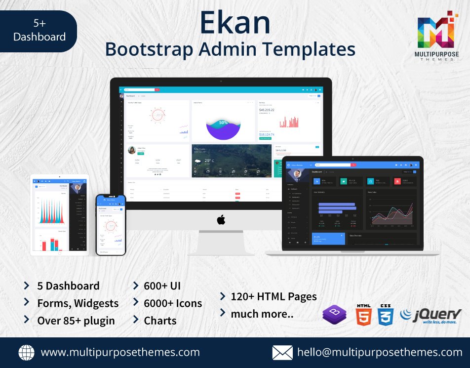 Bootstrap Premium Admin Template – Ekan With Dark Analytical Dashboard