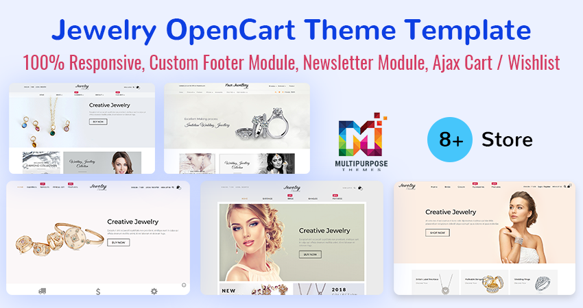 Jewelry – Premium OpenCart Theme Is The Best Way To Create Your Beautiful Online Jewelry Store