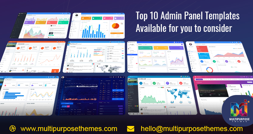 Top 10 Admin Panel Templates Available For You To Consider