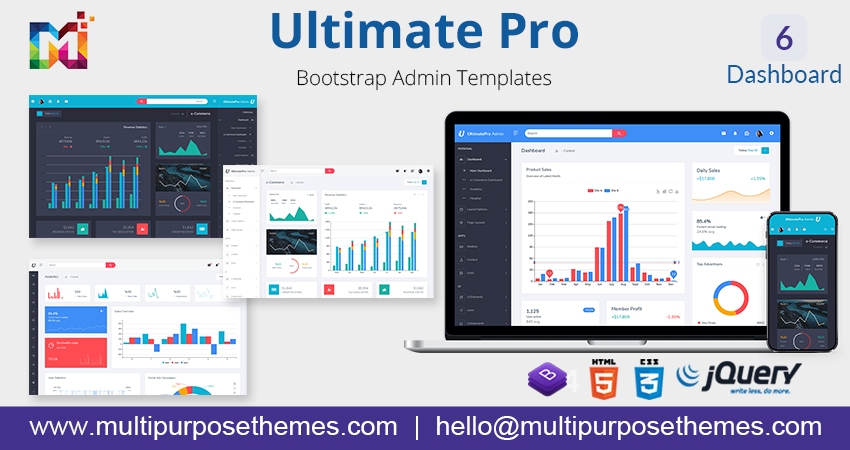 Admin Dashboard Template UltimatePro E-Commerce