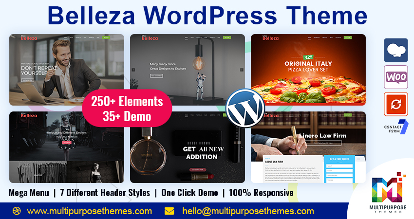 35+ Belleza Business WordPress Themes