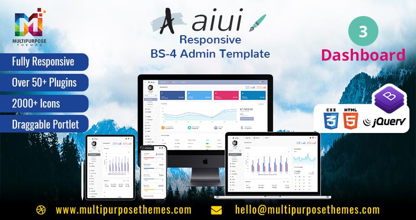 AIUI Premium Admin Template – A Fully Responsive Admin Dashboard Template