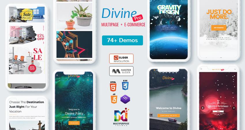 Divine Pro – Bootstrap HTML Template