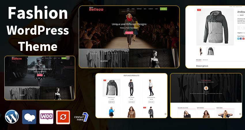 All Fashion WordPress Themes With Features