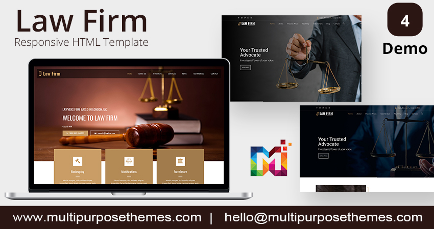 Law Firm – One Page Premium Html Template