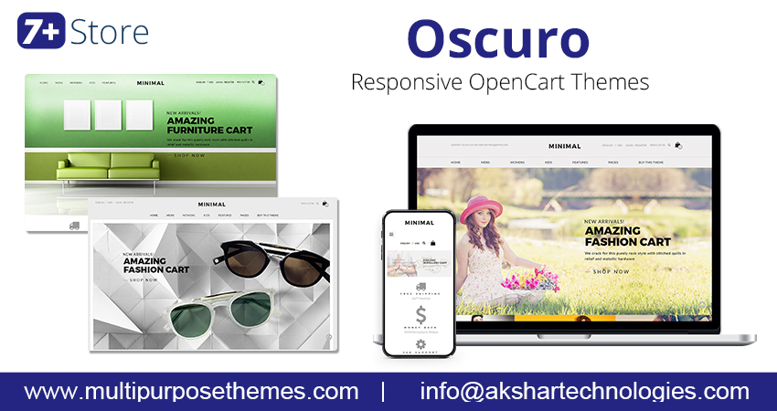 E-Commerce OpenCart Themes – Oscuro  For Creating Online Fashion Store