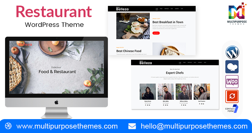 All Restaurant Multipurpose WordPress Themes With Features