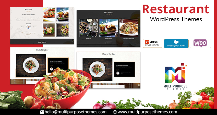 Food & Restaurant Responsive WordPress Themes