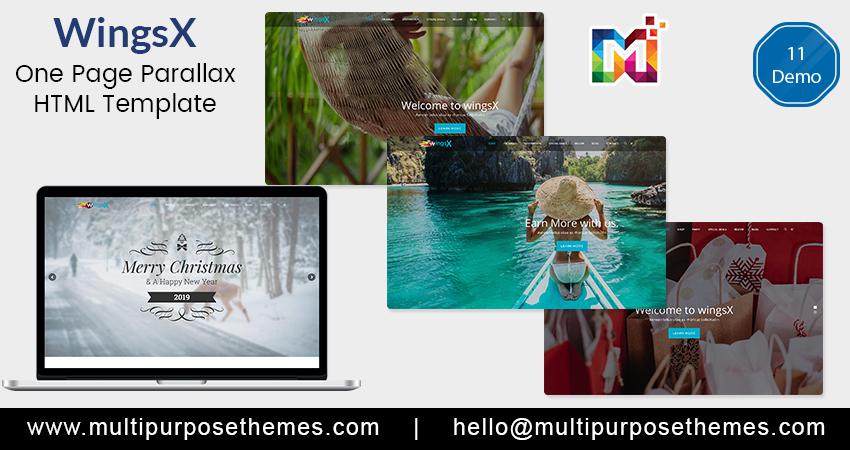 Multipurpose Responsive HTML Template – WingsX