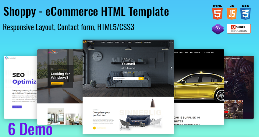 Multipurpose Responsive HTML Template – Shoppy Bootstrap HTML Template
