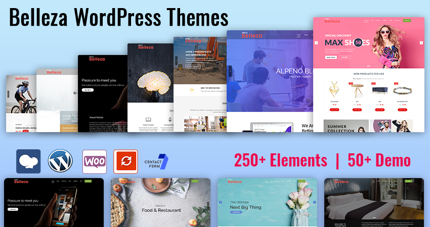 50+ Awesome Multipurpose Responsive WordPress Themes