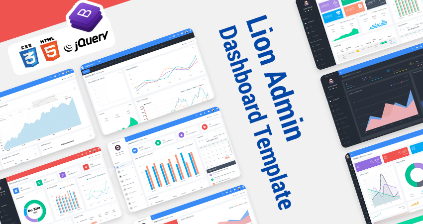 Bootstrap Admin Templates – Lion