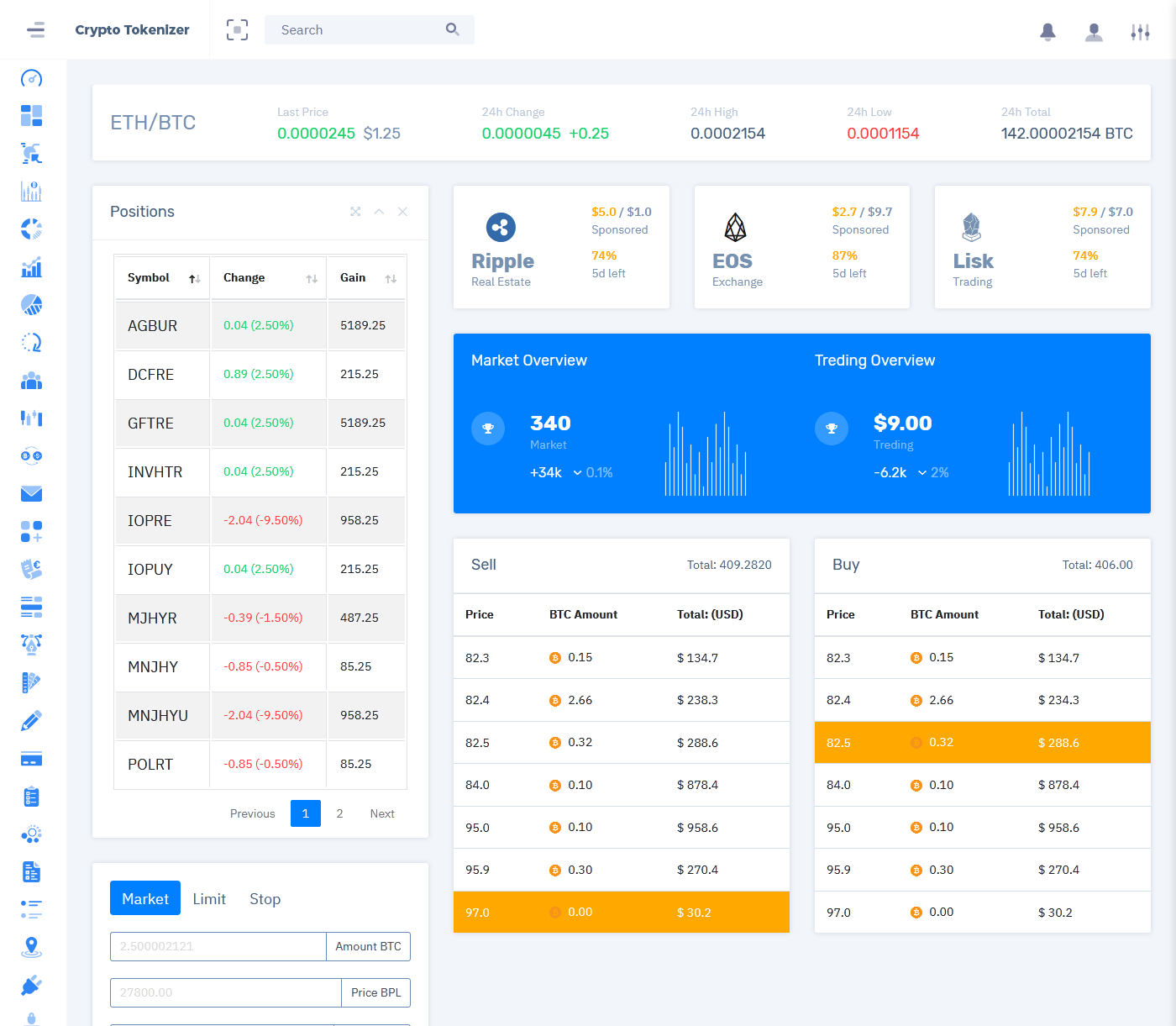 CryptoCurrency Admin Template