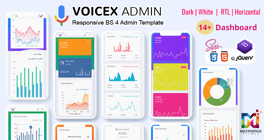 Dashboard Admin Templates – VoiceX Bootstrap Admin Web App