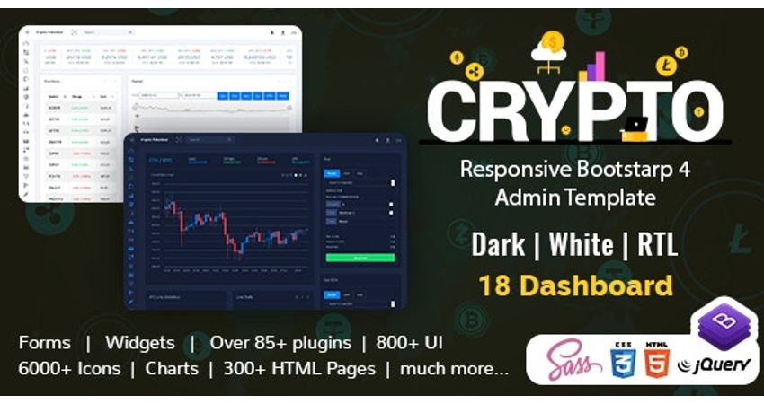 Crypto Tokenizer Cryptocurrency Dashboard Admin Template