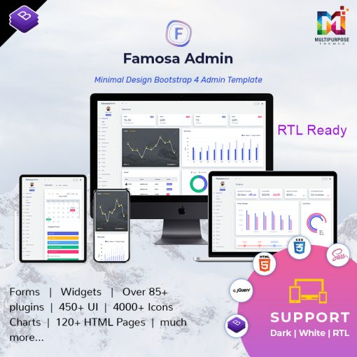 Famosa Admin Template Dashboard Web Apps