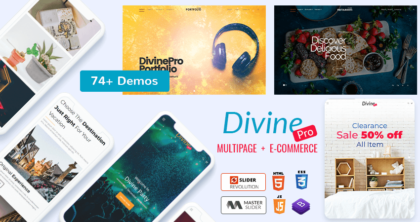 Business HTML Template – Divine Pro With 74+ Demos