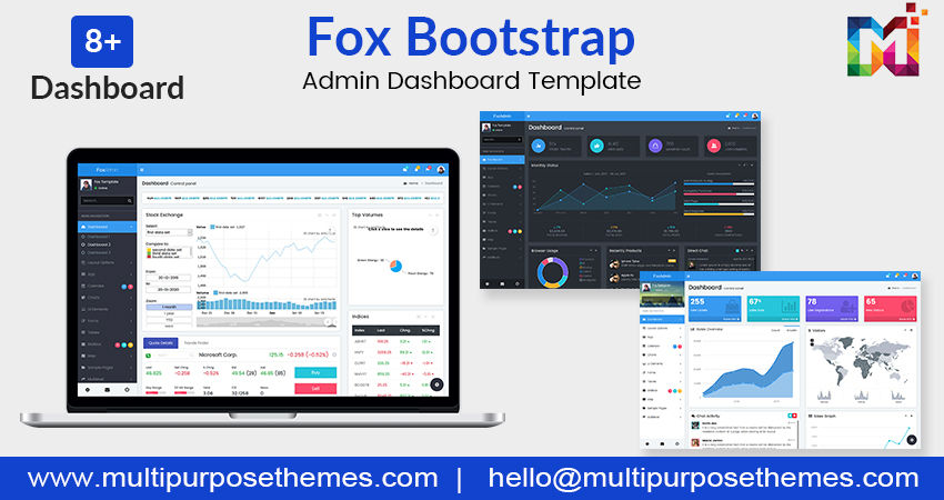 Admin Dashboard Template – Fox With Responsive Web Application Kit