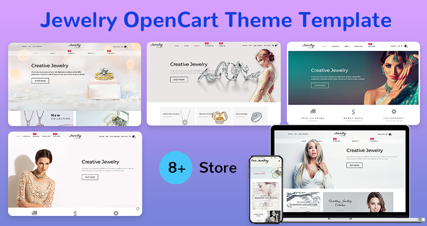 Premium OpenCart Templates And Themes – Jewelry