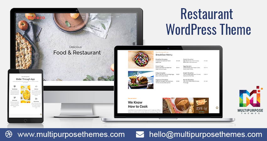 18+ Premium Responsive WordPress Theme – Delicious Restaurant