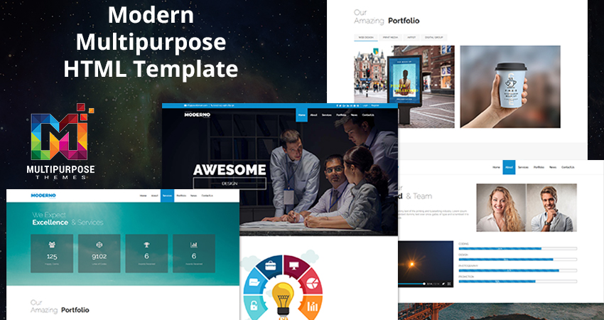 Multipurpose HTML Template – Modern With 6 Creative Demos