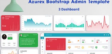 Admin Template With 3 Responsive Admin Dashboard – Azurex