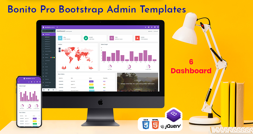 Bootstrap 4 Admin Templates – Bonito Pro With 6 Admin Dashboard
