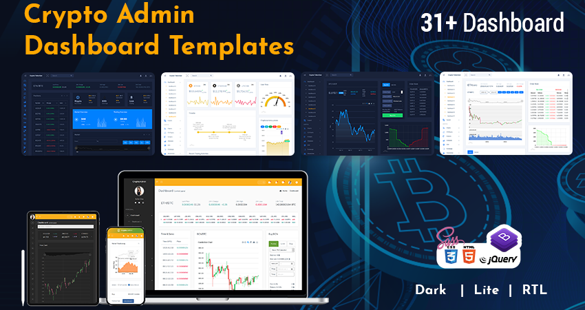 Crypto Admin Dashboard Templates 850×450